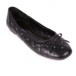 Nine West Quilted Studded Leather Flat  7.5 NWOT
